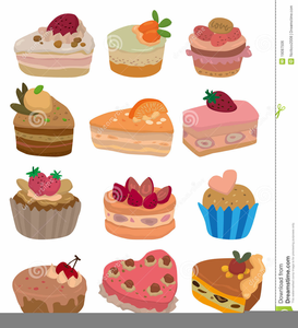 Birthday Cake And Ice Cream Clipart Image