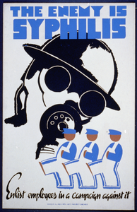 The Enemy Is Syphilis Enlist Employees In A Campaign Against It. Image