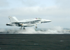 F/a-18 Launches From The Flight Deck Of The Uss George Washington. Image