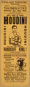 Special Starring Record Engagement Of The World S Famous Jail Breaker, Houdini The Only And Original Handcuff King. Image