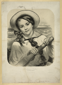Young Woman Rowing Image