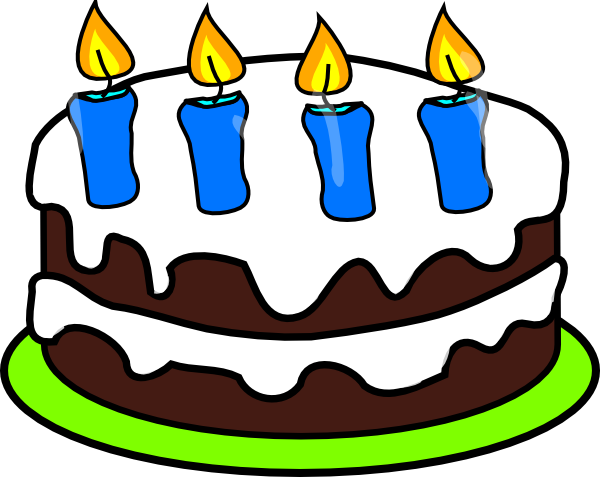 Cake 4 Candles Clip Art At Clker Com Vector Clip Art