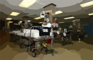 The Patient Recovery Room Aboard The Hospital Ship Usns Comfort (t-ah 20) Clip Art