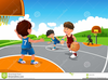 Free Clipart Kids Playing Basketball Image