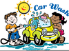 Car Wash Comic Clipart Image