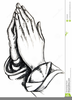 Free Praying Hands Clipart Vector Image