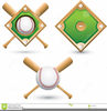 Free Crossed Baseball Bats Clipart Image