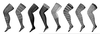 Leg Clipart Black And White Image