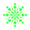 Light Green Snowflake Clip Art