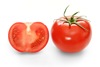Bright Red Tomato And Cross Section Image