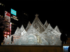 One Of Several Snow And Ice Sculptures Is Lit Up For Night Time Viewers At The 54th Annual International Sapporo Snow Festival Image