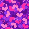 Hearts Valentine Seamless Repeat Pattern Vector Illustration Image