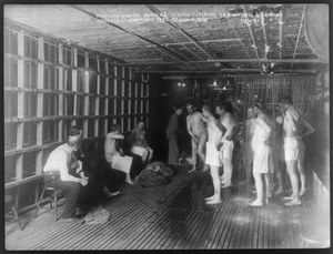 Male Lodgers Bathing At The Municipal Lodging House, N.y. Image