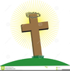 Cross With Thorns Clipart Image
