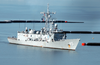 Uss De Wert (ffg 45) Passes The Newly Installed Anti-boat Barrier System Image