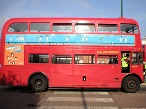 Route Routemaster Outside Golders Green Tube Station Side View Image