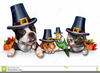 Cute Pet Thanksgiving Clipart Image