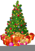 Clipart Of Christmas Trees With Presents Image