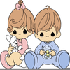 Baby Boy Precious Moments Clipart Image