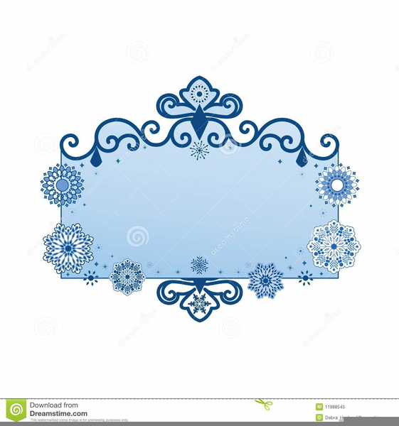 Snowflake Banner Clipart Free Images At Clker Com Vector Clip