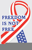 Freedom Is Not Free Clipart Image