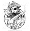 Clipart Pirate Medallion Image