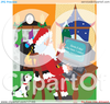 Santa With List Clipart Image