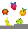 Free Cartoon Fruit Clipart Image