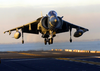 An Av-8b Ii Harrier Lands On The Flight Deck Image