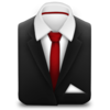 Manager Suit Red Tie Icon Image
