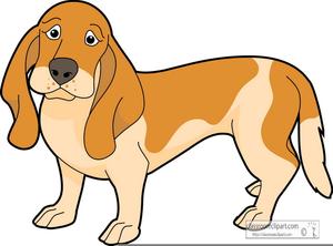 bassett hound clipart free images at clker com vector clip art rh clker com Basset Hound Cartoon basset hound birthday clipart
