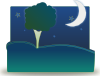 Landscape By Night Clip Art