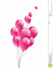 Pink Balloons Clipart Image