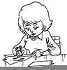Woman Writing A Letter Clipart Image