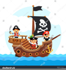 Pirate Ship Clipart Black And White Image