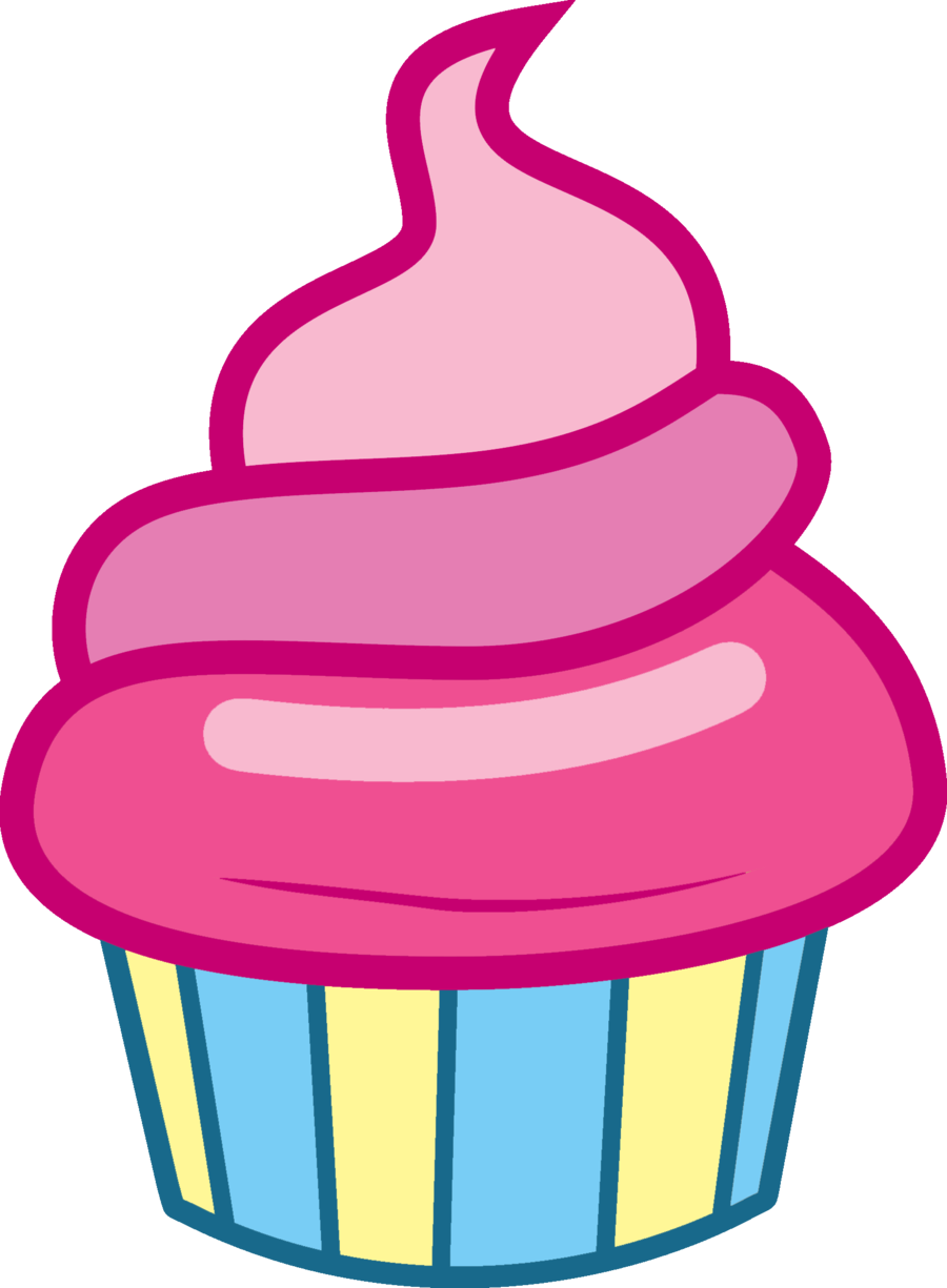 Cupcake Vector Art : Mlp Cupcake Vector Free Images at Clker.com - vector ...