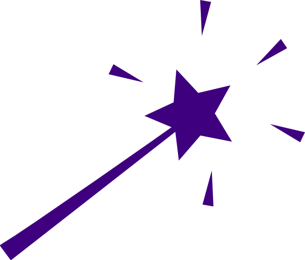 Purple Wand clip artFairy Wand Clipart