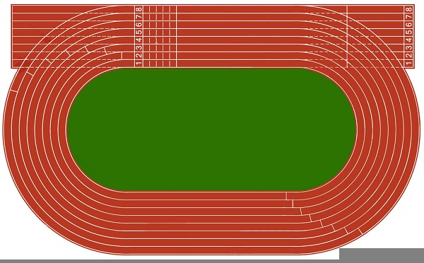 Athletic Track Clipart | Free Images at Clker.com - vector ...