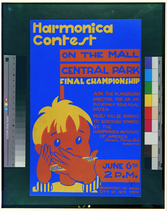 Harmonica Contest On The Mall, Central Park Final Championship. Image