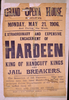 Extraordinary And Expensive Engagement Of Hardeen The King Of Handcuff Kings And Jail Breakers.  Image