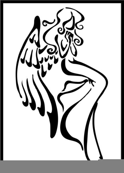 Angel Praying Tattoo Clip Art At Clker Com