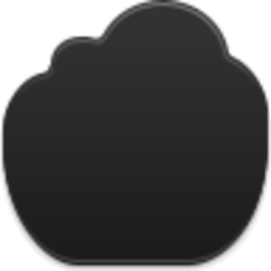 Black Cloud Icon Image