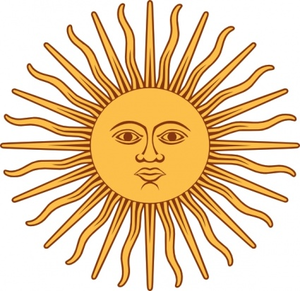 May Sun From Argentina Flag Clip Art Image