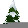 Trees With Snow Clipart Image