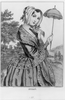 Lady Holding Umbrella Image