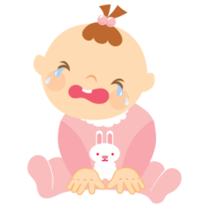 Baby Girl Crying 256 | Free Images at Clker.com - vector ...