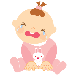 Baby Girl Crying 256 | Free Images at Clker.com - vector clip art ...
