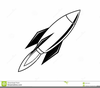 Rocket Ship Clipart Black And White Image