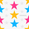 Bg Pink Orange And Blue Stars Image