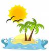 Beach, Sun, Coconut Clip Art at Clker.com - vector clip ...